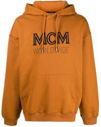 MCM ロゴエンブロイダリー パーカー - ブラウン