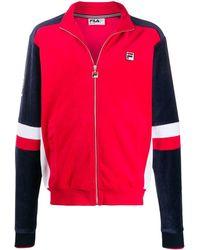 Fila Camden zipped sweatshirt - Rouge
