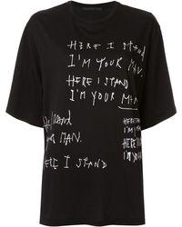 Haider Ackermann Oversized Slogan Print T-shirt - Black