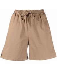 Filippa K Jessa Flared Shorts - Brown