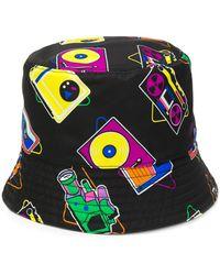 Prada Sombrero de pescador con cámara estampada - Negro