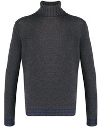 Lardini Rollneck Knit Sweater - Gray