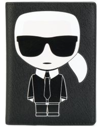 Karl Lagerfeld - Ikonik Passport Holder - Lyst