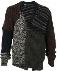 Kolor Knitted Wool Cardigan - Multicolor