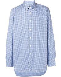 Bagutta Button down check shirt - Bleu