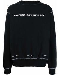 United Standard コントラストステッチ スウェットシャツ - ブラック