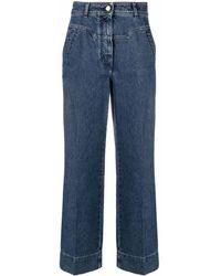 Alberta Ferretti High-rise Wide-leg Jeans - Blue