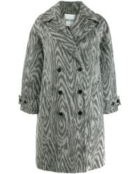 KENZO Double Breasted Coat - Gray