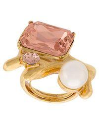 Oscar de la Renta - Coral Crystal Ring - Lyst