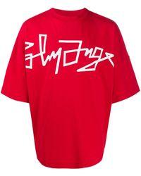 Palm Angels T-Shirt mit Print - Rot