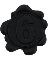 MM6 by Maison Martin Margiela Mm6 Brooch Pin - Black