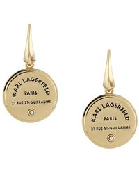 Karl Lagerfeld ロゴ ピアス - メタリック