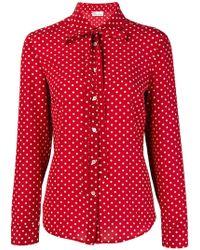 RED Valentino Polka Dot Print Shirt - Red