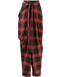 Stella McCartney Bessie Check Silk Pants - Red
