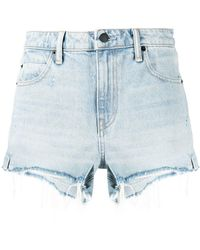 Alexander Wang Shorts denim a vita alta Bite - Blu