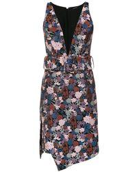 Tufi Duek Floral Print Short Dress - Blue