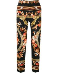 Dolce & Gabbana Pantalon Met Print - Zwart