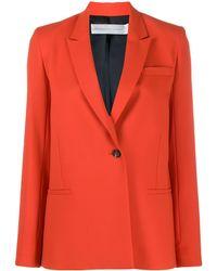Victoria, Victoria Beckham Pl-line Blazer - Orange