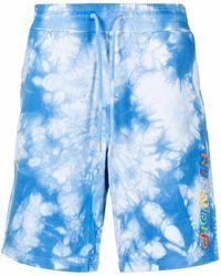 RIPNDIP Pantalones cortos de deporte con motivo tie-dye - Azul