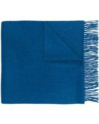 N.Peal Cashmere Grote Geweven Sjaal - Blauw