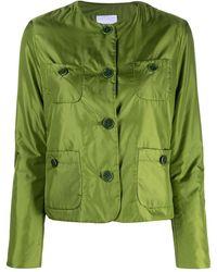 Aspesi テーラード シングルジャケット - グリーン