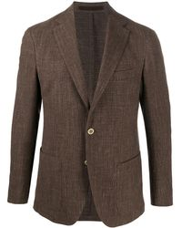 Eleventy Single-breasted Blazer - Brown
