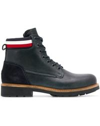 Tommy Hilfiger Fabric Mix Boots - Blue