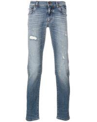Dolce & Gabbana - Distressed Jeans - Lyst
