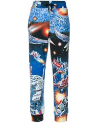 Moschino - Space Print Track Pants - Lyst
