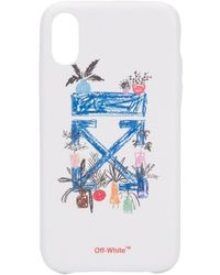 Off-White c/o Virgil Abloh Iphone Xr Hoesje - Wit