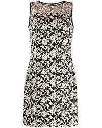 Lauren by Ralph Lauren Floral Embroidery Dress - Black