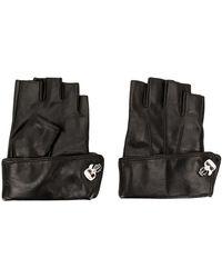 Karl Lagerfeld 'K/Ikonik' Handschuhe mit Pins - Schwarz