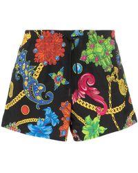Versace Jewel Print Drawstring Swim Shorts - Многоцветный