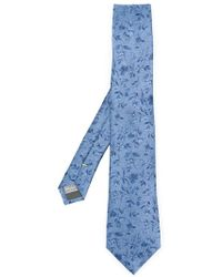 Canali - Floral Jacquard Tie - Lyst