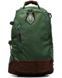 Visvim - Green And Brown Cordura 20l Suede Backpack - Lyst