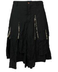 Comme des Garçons - Pantalones cortos rasgados - Lyst