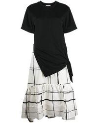 3.1 Phillip Lim - Ss T-shirt Combo Dress W Side Tie - Lyst