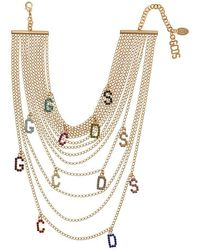 159eeee8b786f Crystal Letters Layered Necklace