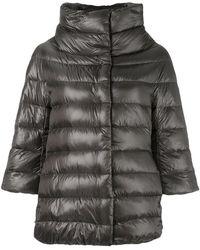 Herno Cropped Sleeve Padded Jacket - Grey