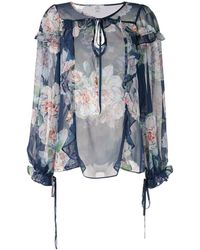 We Are Kindred Floral Print Blouse - Blue
