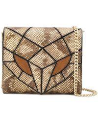 Just Cavalli - Panelled Snake Mini Bag - Lyst