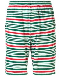 Undercover Elasticated Waist Striped Shorts - Green