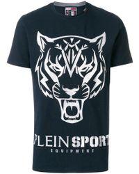 Philipp Plein - Tiger Motif T-shirt - Lyst
