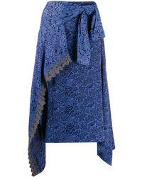 Chloé ラップミディスカート - ブルー