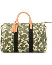 Louis Vuitton 'Speedy 35' Reisetasche mit Camouflagemuster - Grün