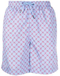 Daily Paper Abstract-print Swim Shorts - Blue