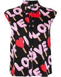 Love Moschino Ice Cream ロゴ シャツ - ブラック