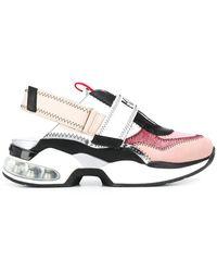 Karl Lagerfeld Slingback Sneakers Met Chunky Zool - Wit