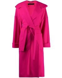 FEDERICA TOSI オーバーサイズ ベルテッドコート - ピンク
