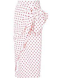 Bambah Polka Dot Ruched Skirt - Wit